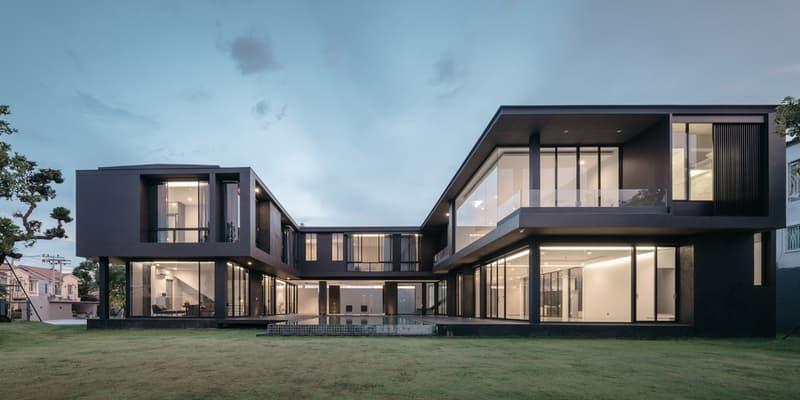 BIBI Modern Concrete Courtyard House Thailand