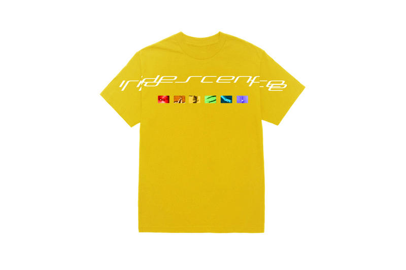 brockhampton iridescence merch collection yellow t-shirt