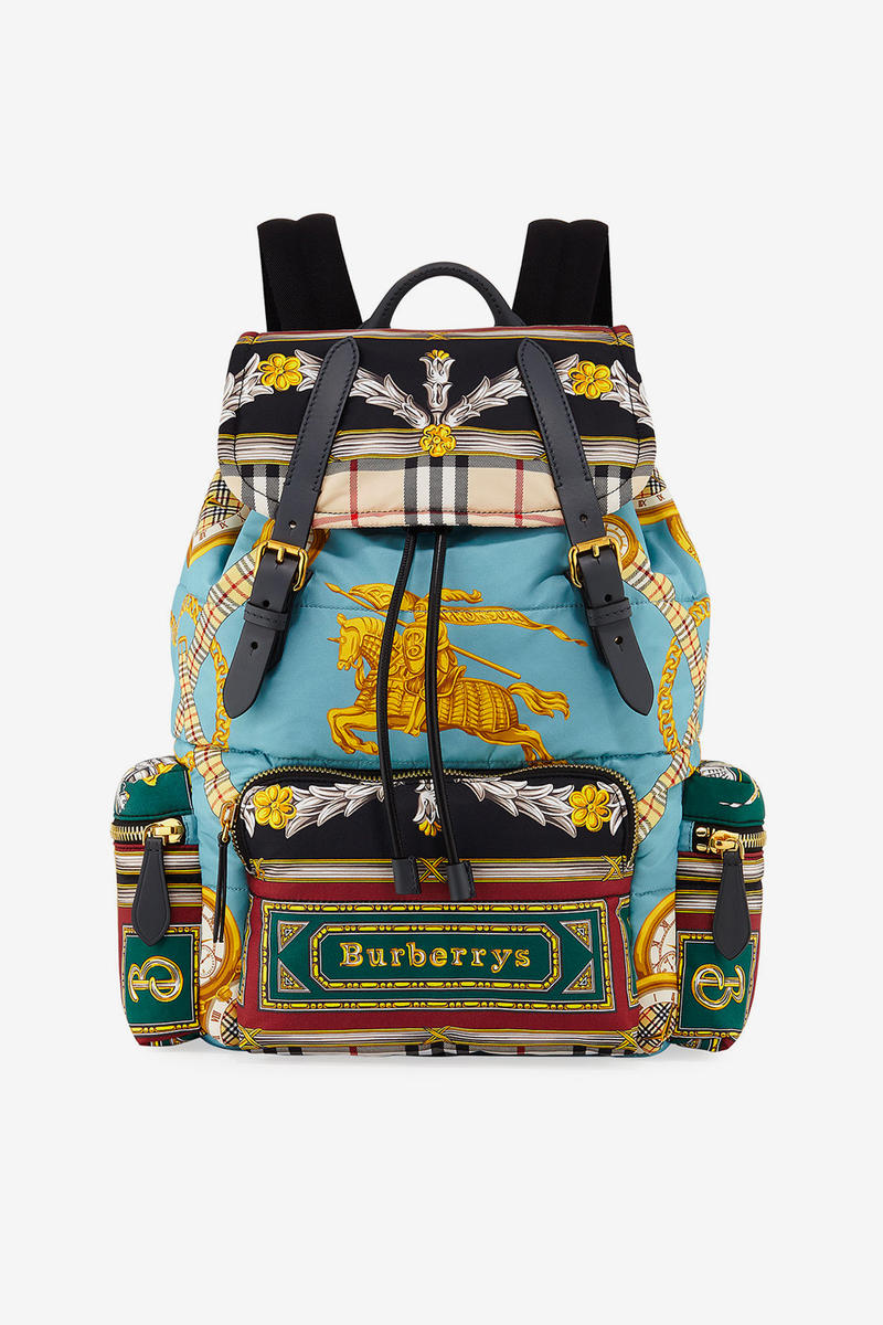 Burberry Archive Scarf Print Backpack multicolor accessories bags backpacks vintage