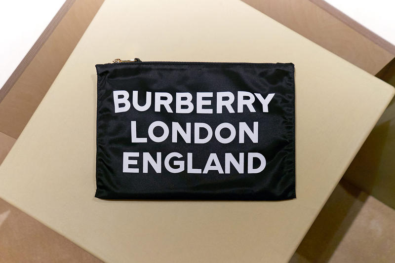 Burberry b series riccardo tisci regent street london pop up exclusive 24 hours instagram sale fall winter 2018 collection limited thomas print logo