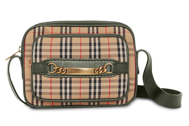 fb25b0cbda75 Burberry Check Link Camera Bag vintage print 1983 accessories release info
