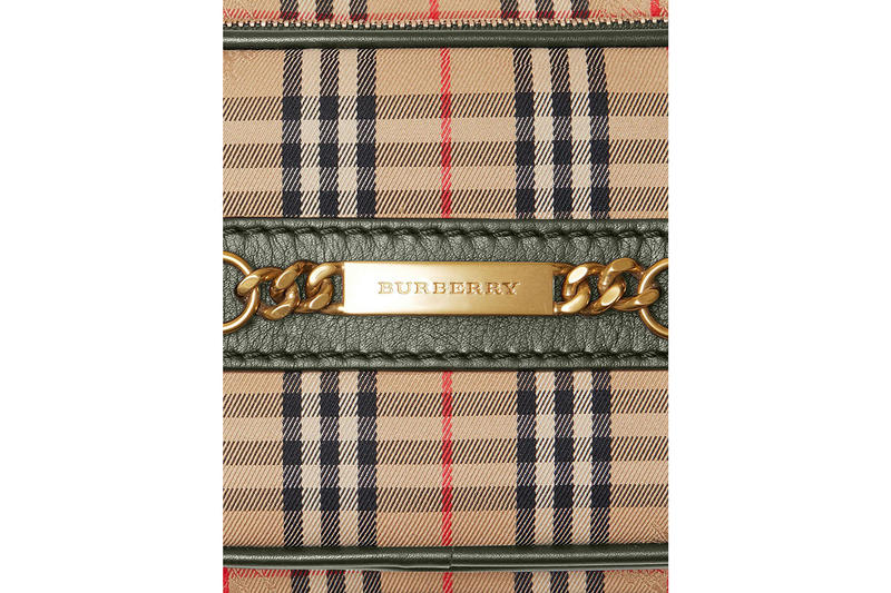 Burberry Check Link Camera Bag vintage print 1983 accessories release info