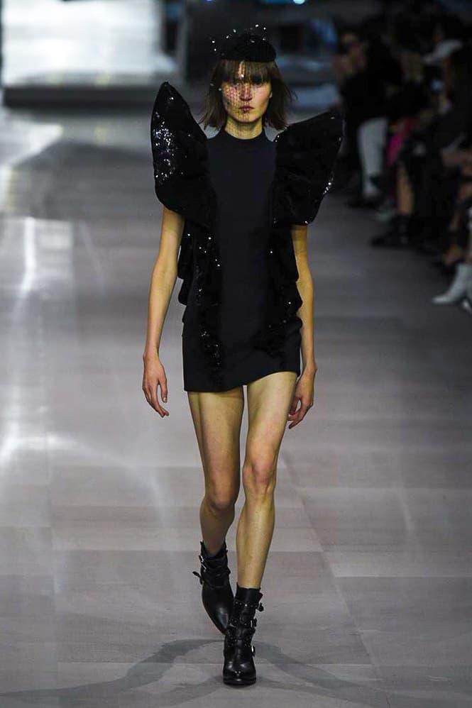 celine spring summer 2019 runway presentation show watch collection hedi slimane first debut paris fashion week spring summer 2019 photos imagery look women men