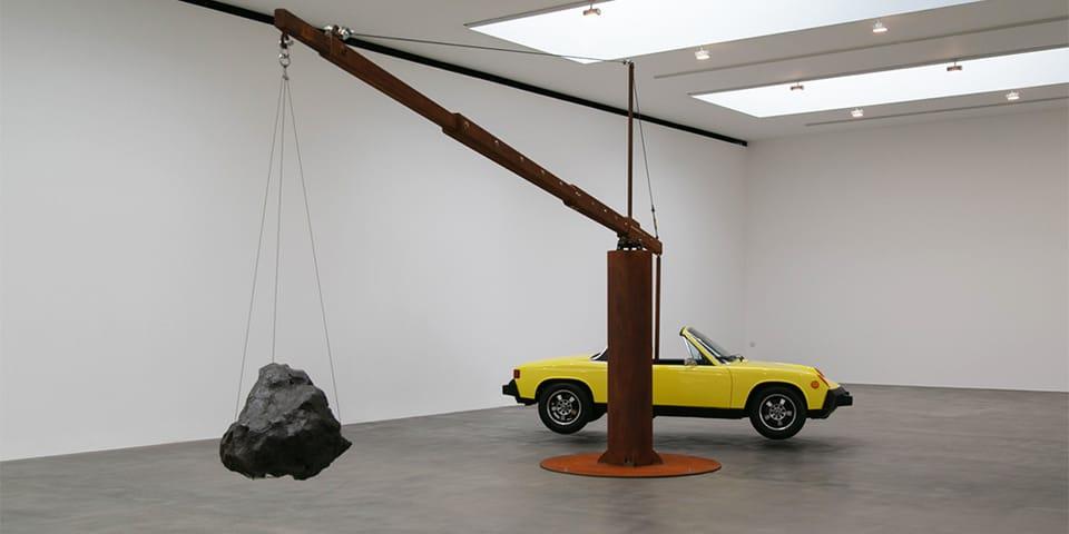 Chris Burden Suspends Vintage Porsche with 390-Pound Meteorite