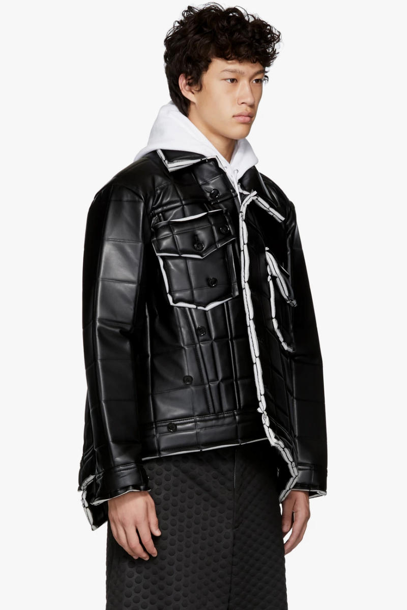 COMME des GARÇONS HOMME Plus fall winter 2018 synthetic Leather Jacket release info outerwear