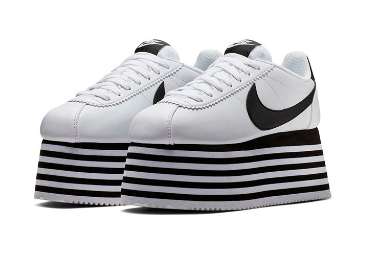 best cheap 6342a 246ad The COMME des GARÇONS x Nike Cortez Platform Sneaker Is a Sky High Necessity