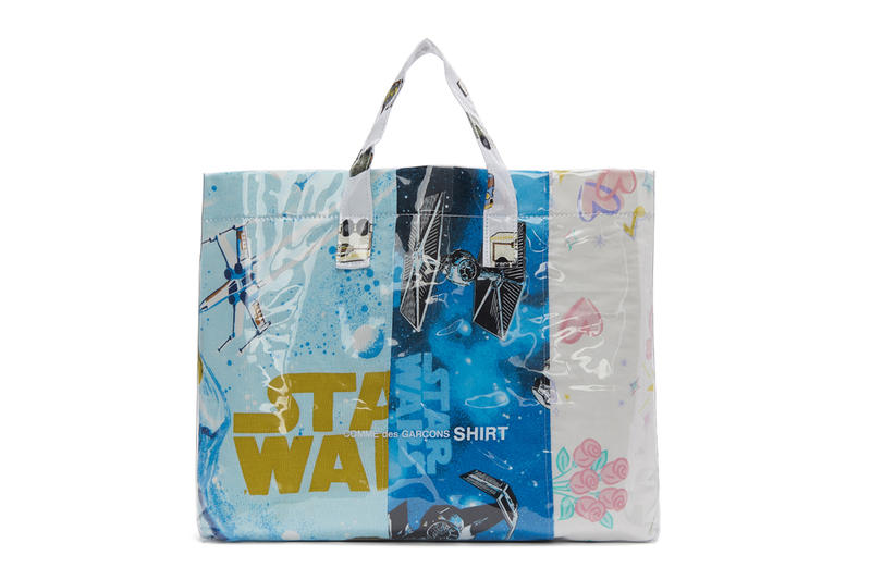 COMME des GARÇONS SHIRT Bedsheets Tote Bag barbie star wars graphics release info accessories bags