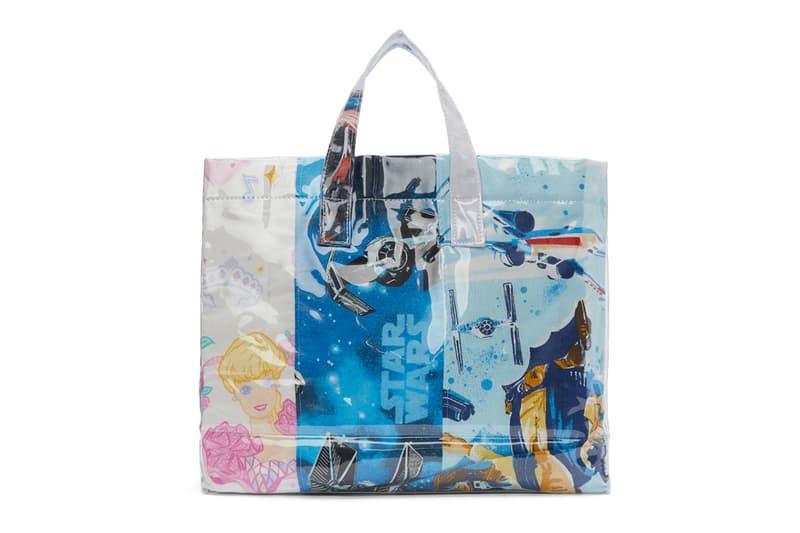 COMME des GARÇONS SHIRT Bedsheets Tote Bag barbie star wars graphics release info accessories bags