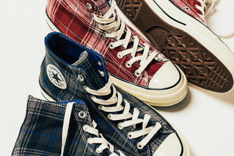 Converse Chuck Taylor All Star 70 Hi Plaid Pack olive burgundy navy black wool release info