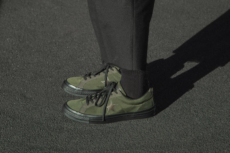Carhartt WIP Converse One Star Release date HBX sneaker info purchase cordura collaboration green black september 2018 drop release date info