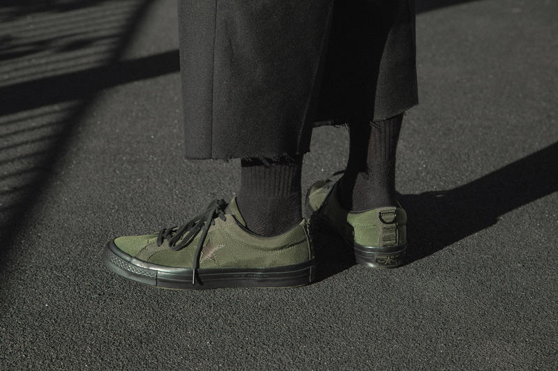 a28c3a39c35c Carhartt WIP Converse One Star Release date HBX sneaker info purchase  cordura collaboration green black september