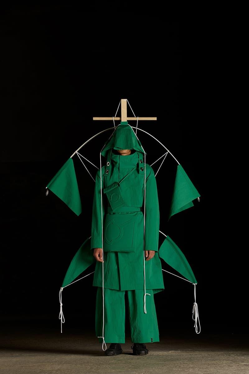 moncler genius craig green spring summer 2019 collection presentation lookbook 5 tent sculpture exhibition