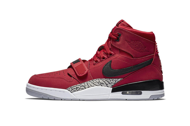 just don Don C Jordan Legacy 312 New Colorways Fall 2018 varsity red hyper jade black white official imagery nike sneaker