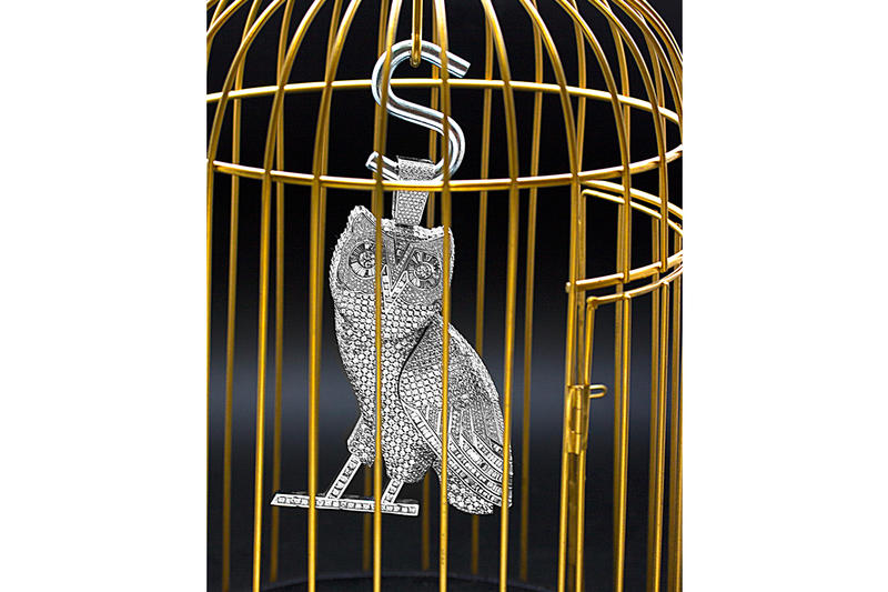 Drake New Massive OVO Owl 10 Chain Jason of Beverly Hills 100 Carat Diamonds White Gold Video