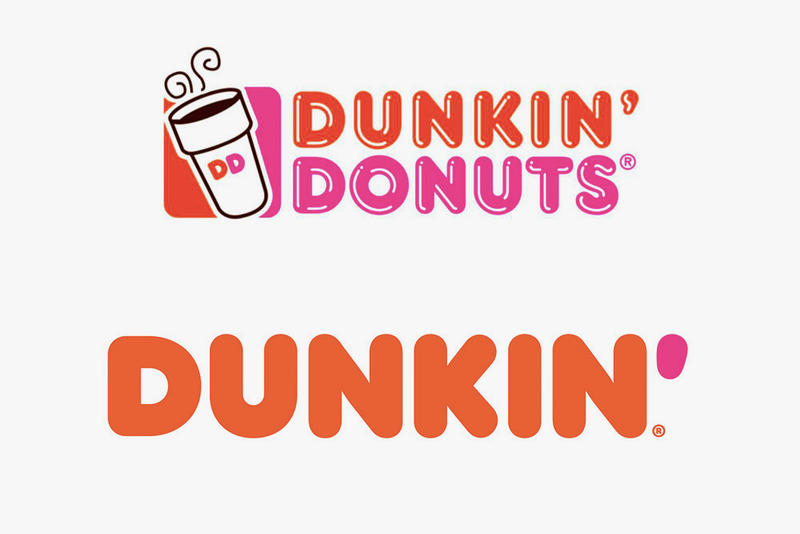 Dunkin' Donuts Rebranding ads packages  signage new remodeled stores social media accounts