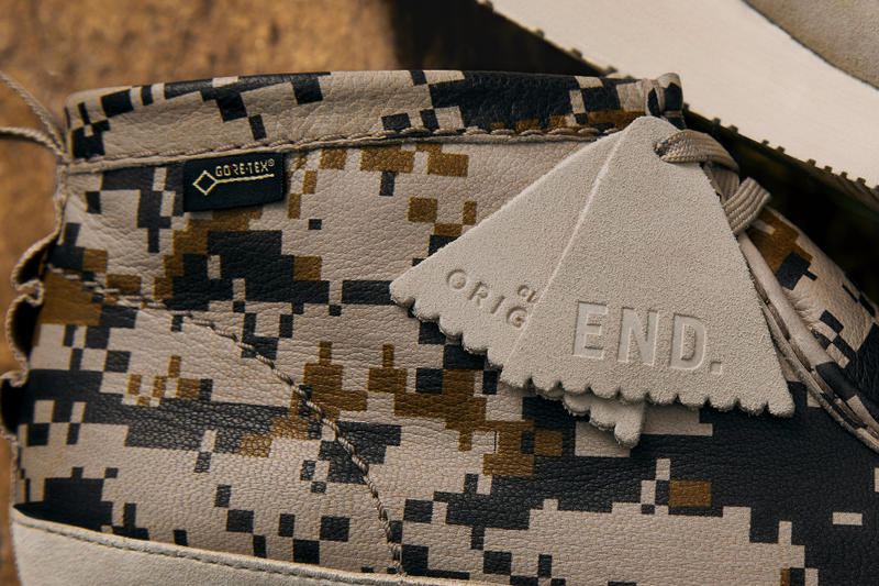 "END. & Clarks Originals ""Digi Camo"" Capsule Info Clothing Footwear Wallabee GTX GORE-TEX heritage footwear classic shoes fashion style Clarks UK"