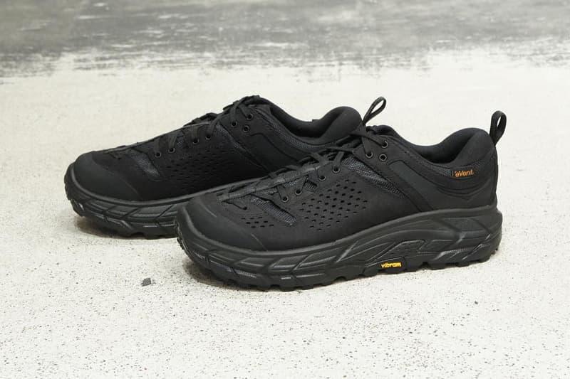 Engineered Garments Hoka One One Tor Ultra Low wp collab sneaker shoe drop release date vibram runner fall winter 2018 31320 jpy 220 usd price vibram info buy sell