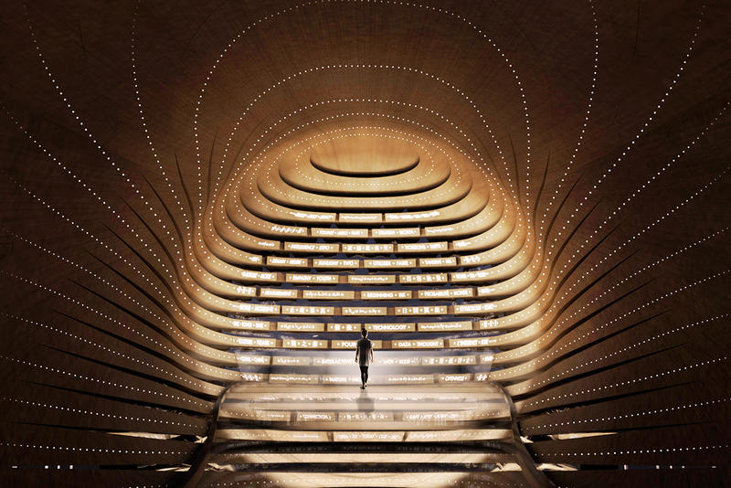 ES Devlin UK Pavilion Expo 2020 Design Architecture Modern Interior Exterior structure the poem pavilion sketches