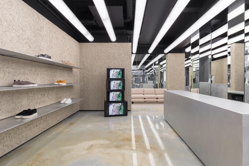 Eytys London Soho Flagship Store Look Inside First Look Swedish Architecture Design Issey Miyake Brutalism Postmodernism Influence Max Schiller Jonathan Hirschfeld
