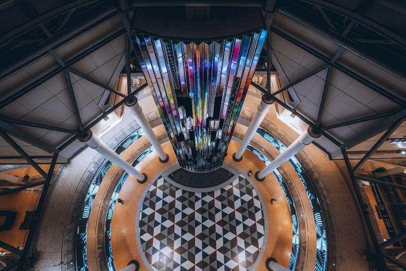 felipe pantone datafall sculpture moscow installation artwork