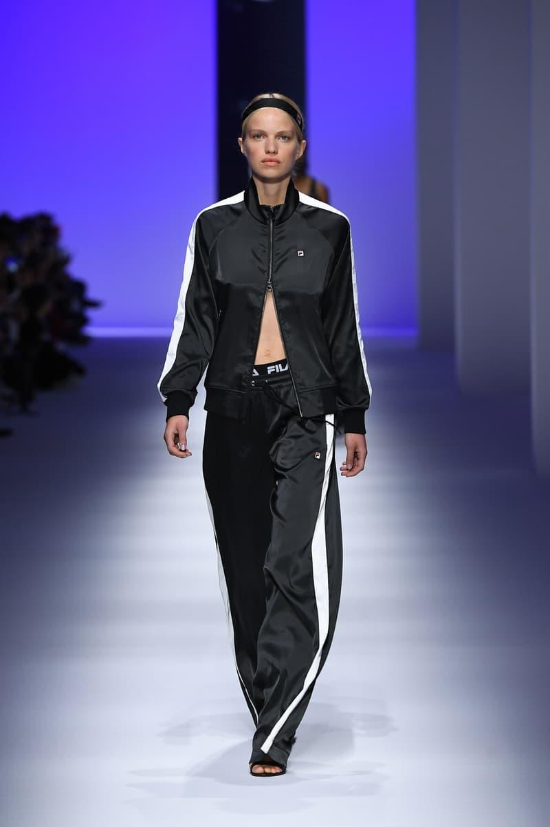 3dddb2e9b6d FILA Spring Summer 2019 Milan Fashion Week sportswear jackets swaeters  hoodies bags hats accessories runway