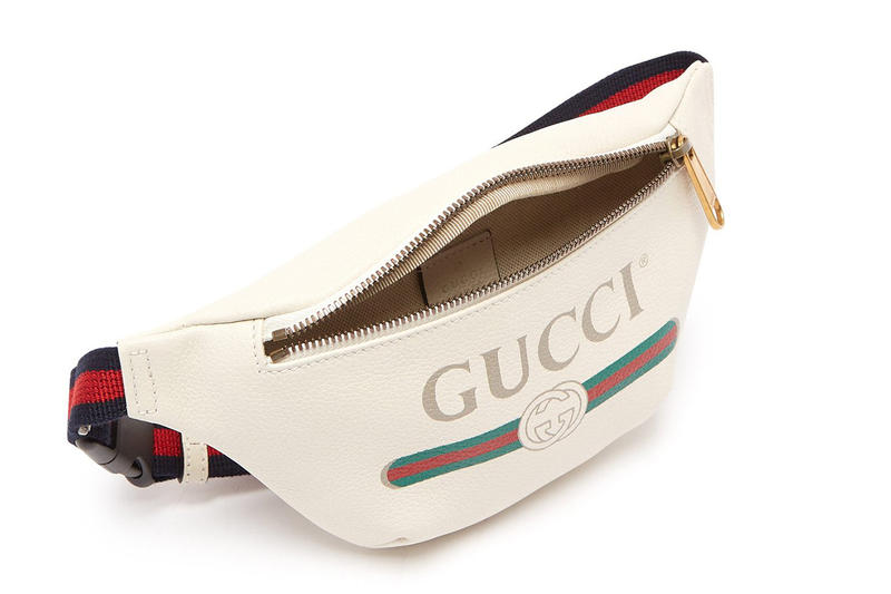 ea32c8e31d3a Gucci Belt Bag Off-White Leather navy red green GG logo release info bags  accessories