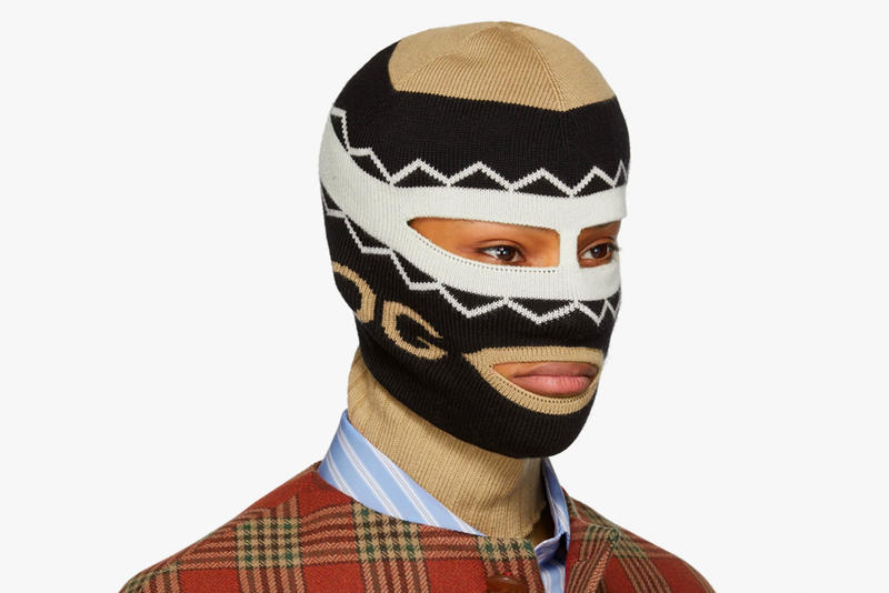 Gucci Knitted Logo Balaclava Face Mask wool black beige accessory luxury  price release purchase buy online 30eb5bf3d