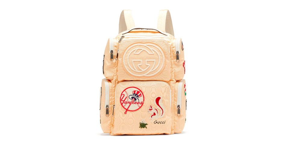 78c7a628b70c Gucci Moiré Canvas Patches Backpack | HYPEBEAST DROPS