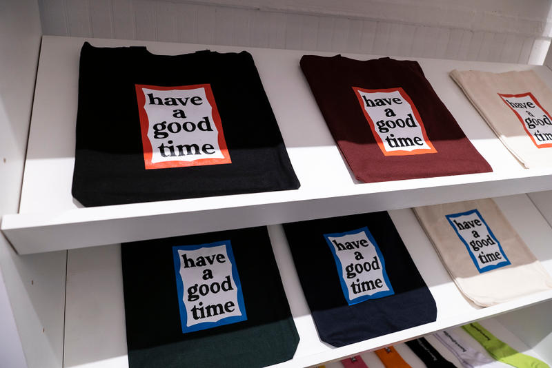 have a good time NYC Store Photos t-shirts hats accessories phone cases logo