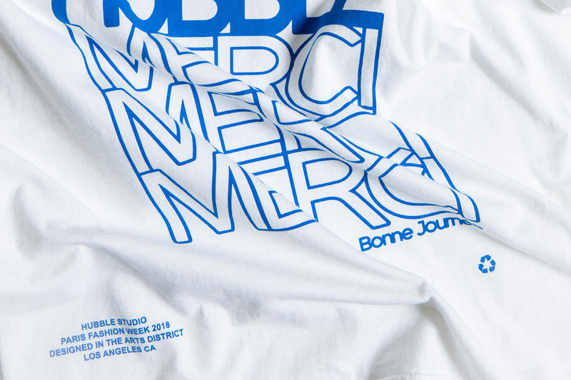 Hubble Studio Paris Fashion Week Merci T-Shirt white blue release info colette