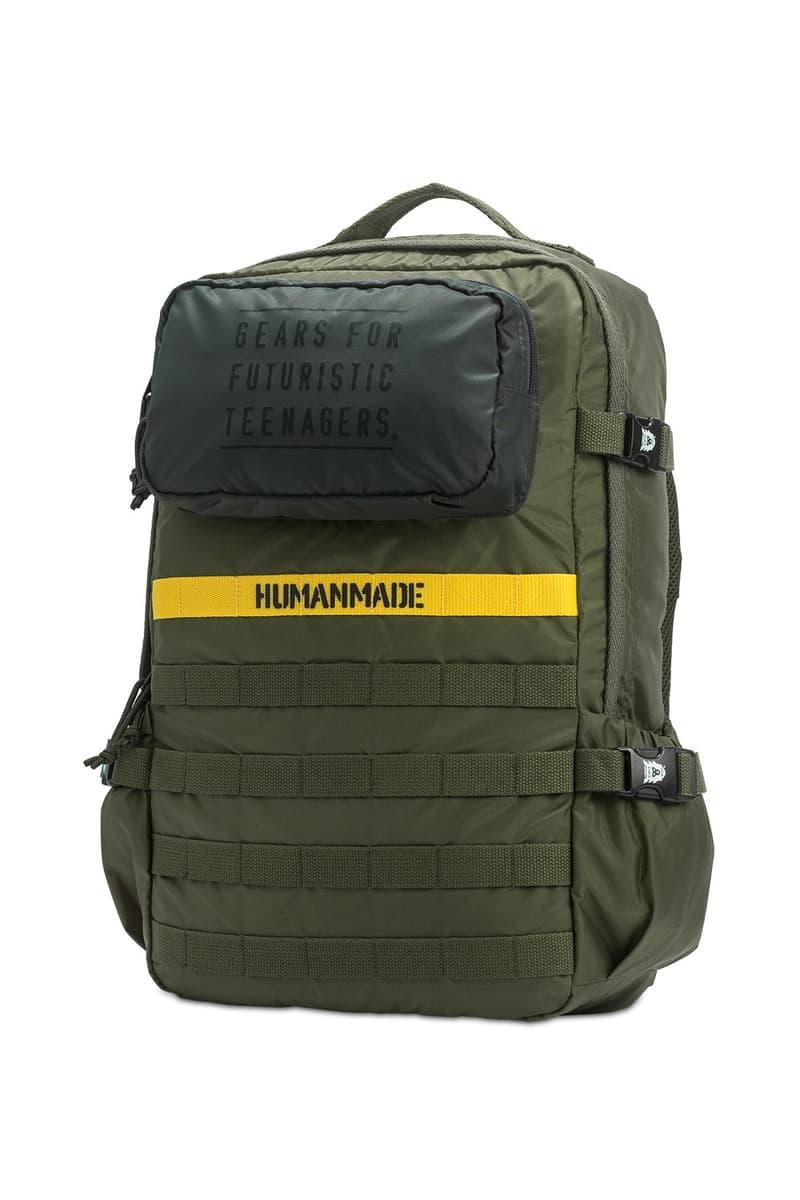 HUMAN MADE Military Backpack Shoulder Bag Spring Summer 2018 green olive