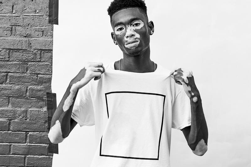 Opening Ceremony x Cotton Collab Announcement white tee markers fashion t-shirt box logo new york city marker black square box