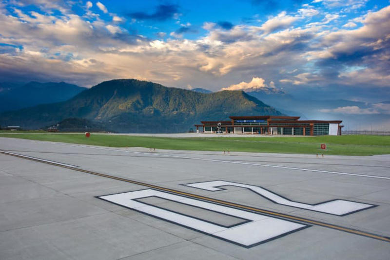 india pakyong airport himalayan mountains