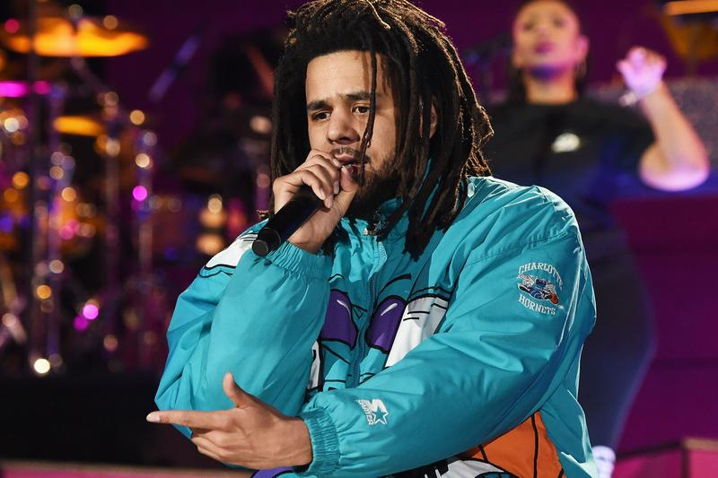 J. Cole Pays Tribute to Mac Miller Las Vegas concert swimming