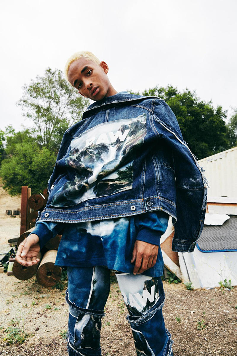 jaden smith g star raw forces of nature collection apparel fashion 2018