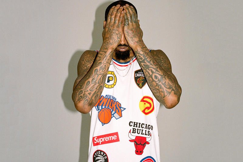 J.R. Smith Supreme Leg Tattoo fine nba league office twitter announcement