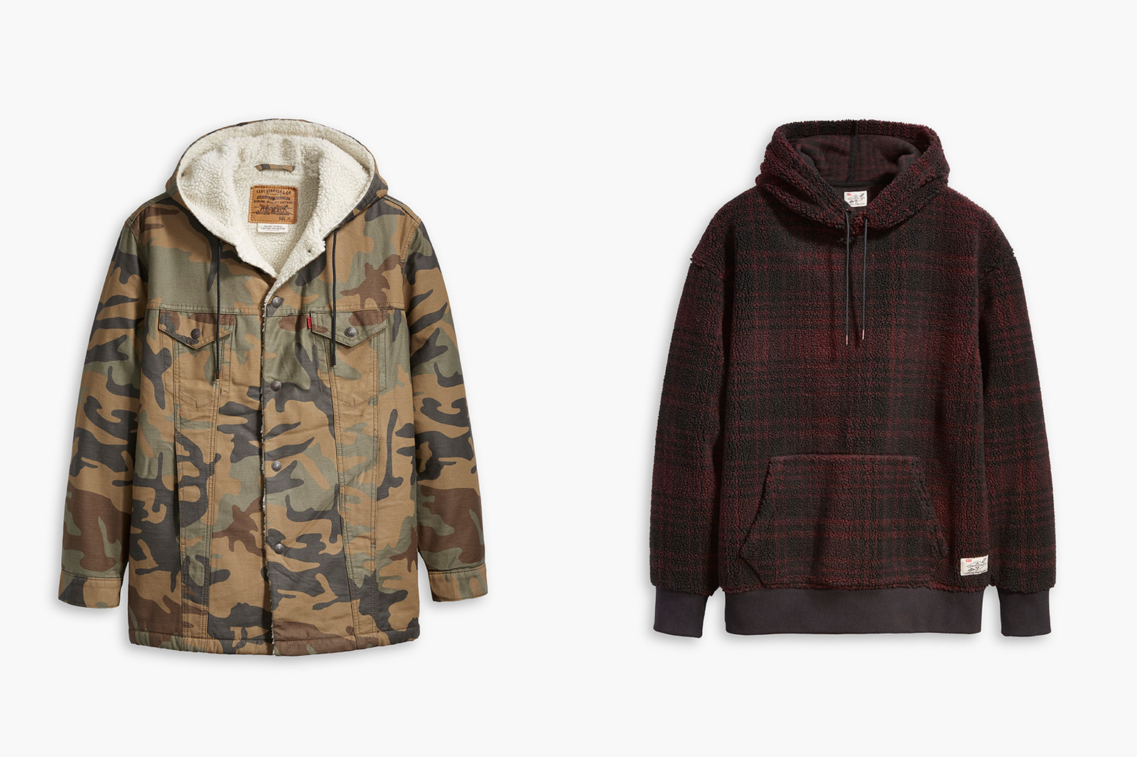 Justin Timberlake x Levi's Fresh Leaves Collection Reveal 501 Hoodie Camo Workwear