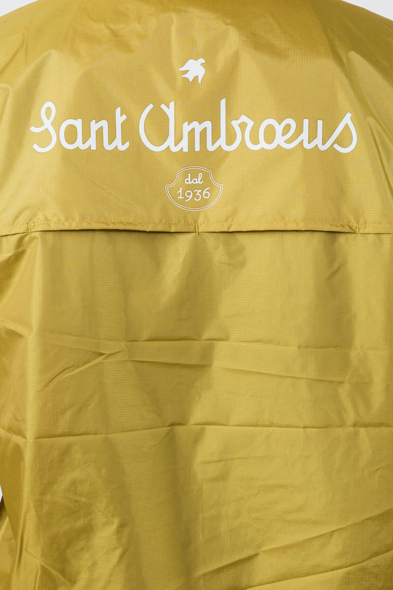 "k way sant ambroeus collaboration jacket pullover pink blue mustard yellow white capsule collection drop restaurant release date info the webster september 17 2018 ""LE VRAI LEON 3.0"" WINDBREAKER exclusive waterproof rain jacket"