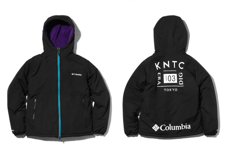 Kinetics Columbia Jacket Collection Release Outerwear clothing Japan fashion prints patterns winter fall collaboration 2018 tokyo