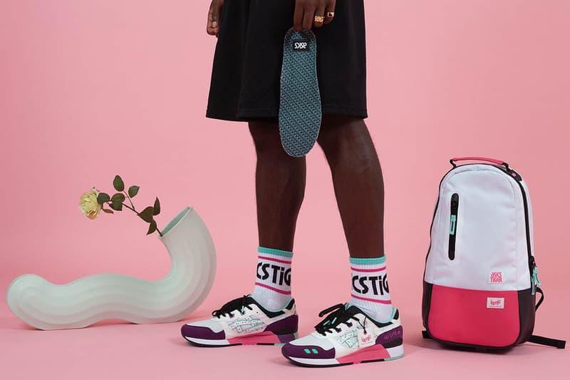 la mjc asics gel lyte iii 2018 september footwear sneakers purple grey white pink teal black