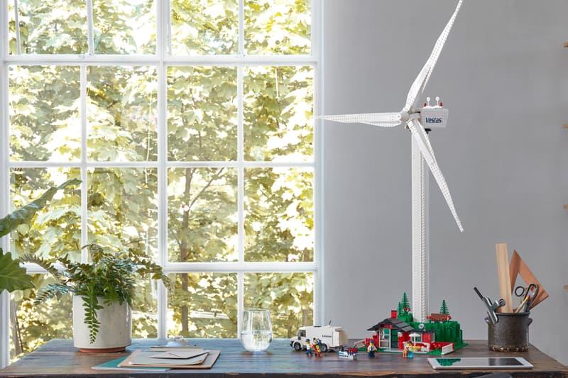 LEGO Fully Functioning Wind Turbine Set NYC climate week sustainably sourced renewable energy