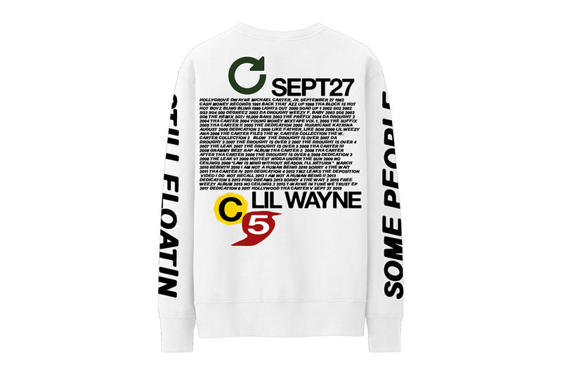 Lil wayne tha carter v 5 merch collection limited drop 24 hours one day cactus plant flea market illegal civilization airbrush graphics release info web store shop sell print album