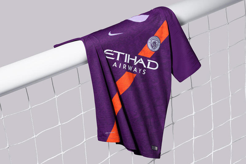 Manchester City 2018/19 Premier League Third Kit Football Soccer Champions Orange Purple Sash Release Information First Look Leak