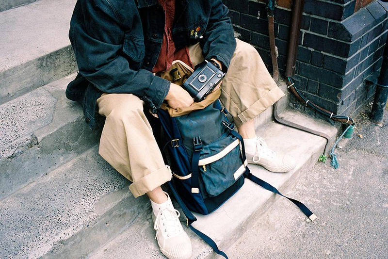 master piece fall winter 2018 collection lookbook fw18 september bags backpacks accessories black yellow keyring tote pack waist