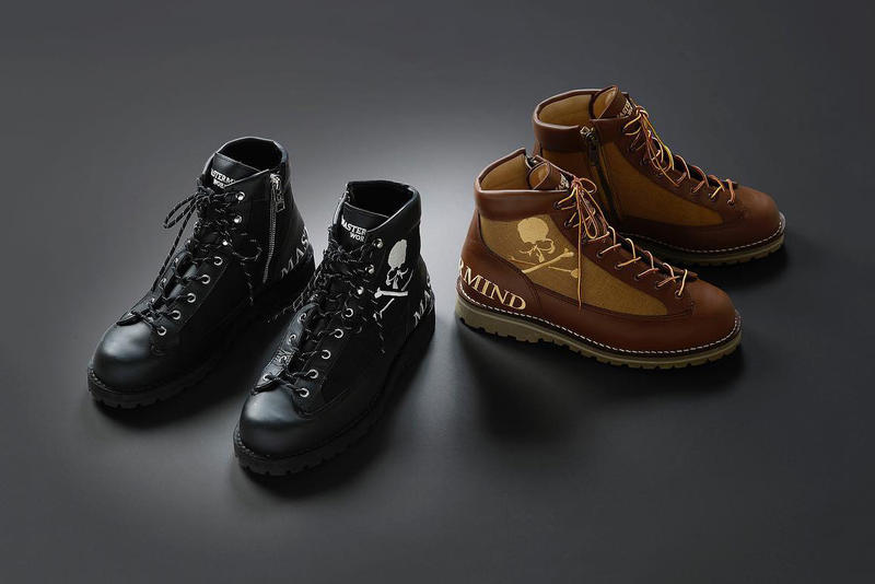 mastermind japan world hiking boots danner mountain light collaboration 2 ii model black tan beige white skull logo september 15 2018 drop release date info first look buy sell sale