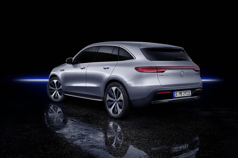 Mercedes Benz EQC All Electric Suv Reveal 2020 Silver Tesla SUV Car Automotive German Engineering Carbon Footprint