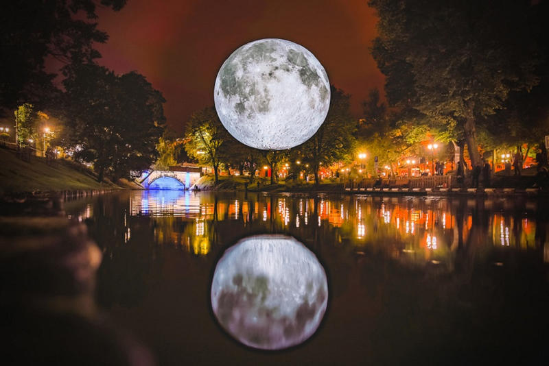 Luke Jerram museum of the moon world tour replica 2018 september