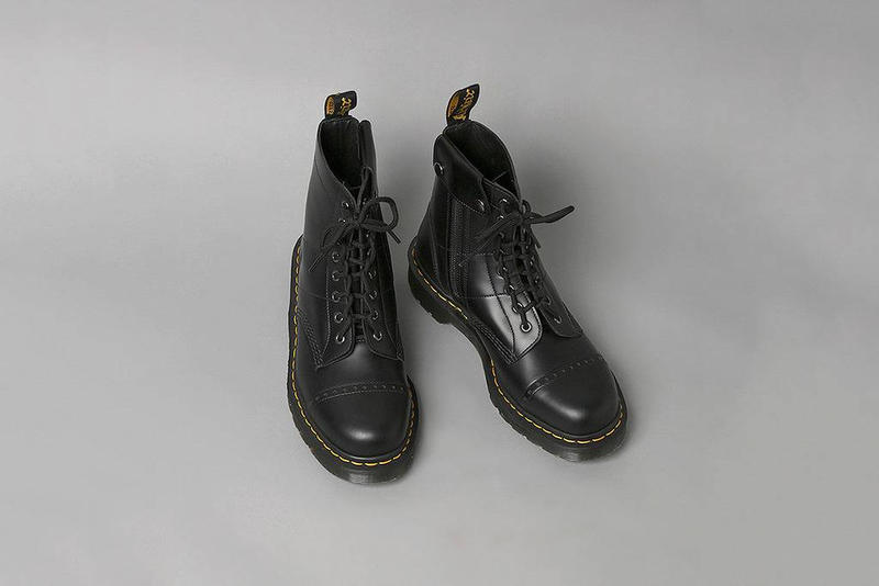 Needles Dr. Martens 8 Hole Boots Collab Details Cop Purchase Buy Shoes Trainers Kicks Sneakers Footwear Collaboration Fall/Winter 2018 Collection Nepenthes