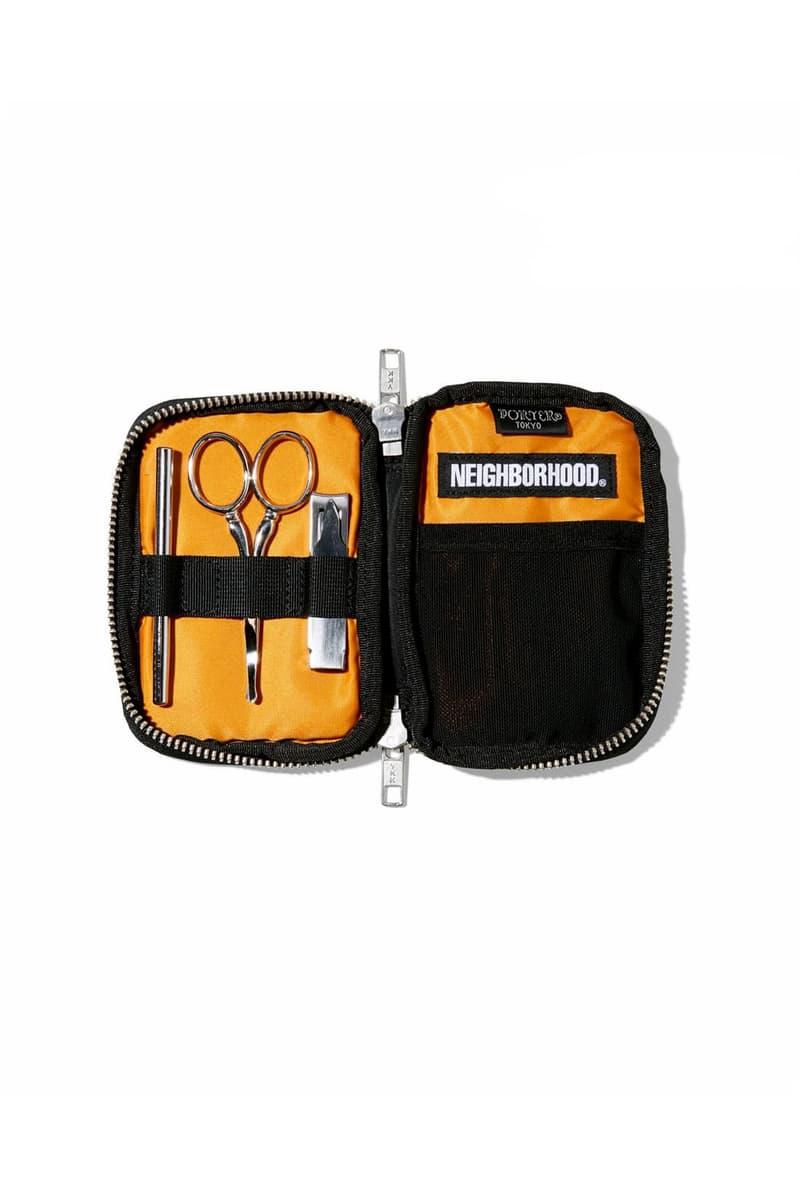 Porter NEIGHBORHOOD Fall Winter 2018 Capsule Release Capsule accessories backpacks messenger bag Tanker Original rig orange black