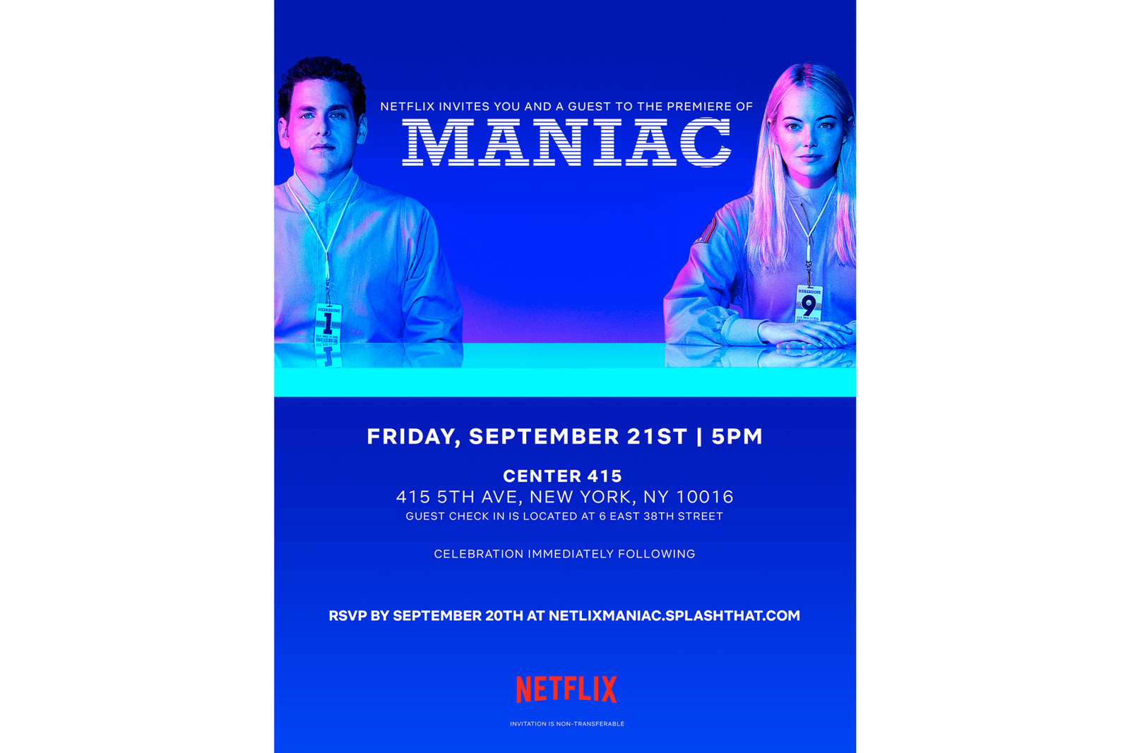 Netflix's Debuts 'Maniac' With NYC Pop-Up television tv streaming art jeron braxton jonah hill emma stone internet series
